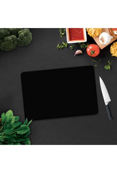 Decorita Düz Renk Siyah Cam Kesme Tahtası - Cam Kesim Tablası 29cm x 34cm