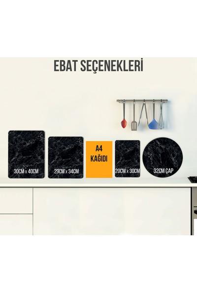 Decorita Hasır Görünümlü Cam Kesme Tahtası - Cam Kesim Tablası 29cm x 34cm