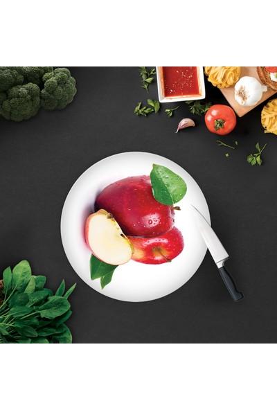 Decorita Kırmızı Elma | Cam Kesme Tahtası