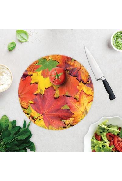 Decorita Sonbahar Yaprakları | Cam Kesme Tahtası