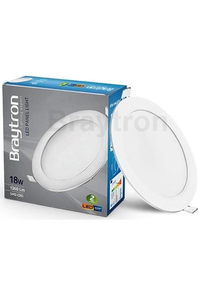 Sıva Altı LED Panel Spot 18 W Yuvarlak 6500K Beyaz Işık Braytron - BP01-31830