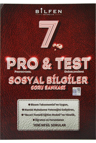 Bilfen Yayınları 7. Sınıf Pro & Test Sosyal Bilgiler Soru Bankası