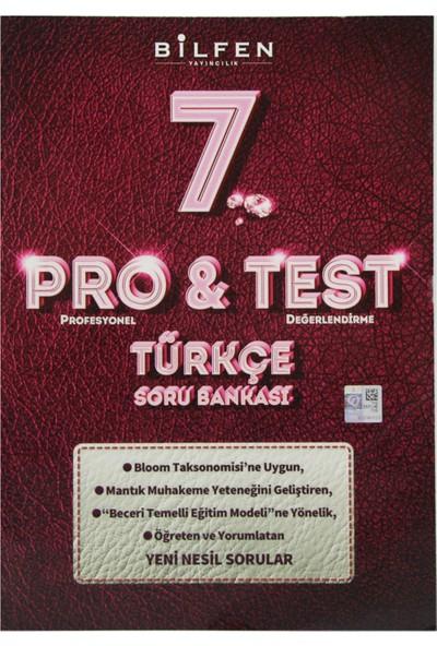 Bilfen Yayınları 7. Sınıf Pro & Test Türkçe Soru Bankası