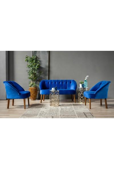 Yıldız Mobilya Roselin Mavi Çay Seti