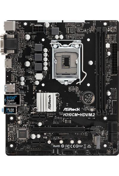 Asrock H310CM Intel H310 2666MHz DDR4 HDVM.2 1 x M.2 4 x SATA3 Micro-ITX Anakart (ASRH310CM HDVM2)