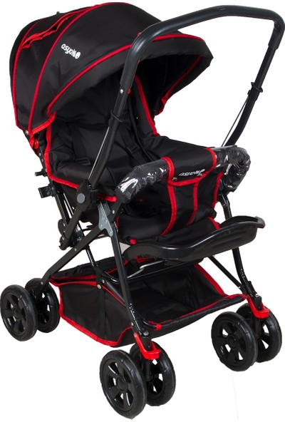 Asyamo Keeper Çift Yönlü Tam Kapanır Tente Bebek Arabası