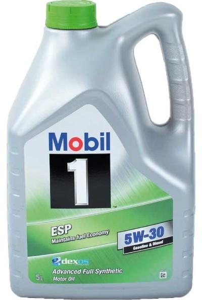 Mobil 1 ESP 5W/30 Dexos2 Tam Sentetik Partiküllü 5 Litre (Üretim Yılı: 2019)