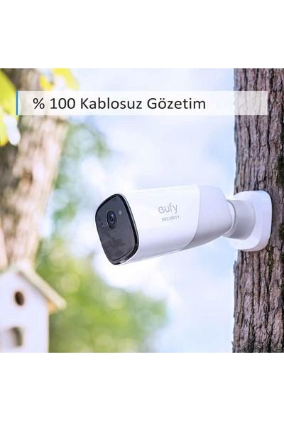 Anker EufyCam Akıllı Güvenlik Seti 1080p Kablosuz IP Kamera - 2 Kamera 1 AI Homebase - 365 Gün Şarj Süresi - Gece Görüşü - Yüz Tanıma - IP-65 Suya Dayanıklı - İç+Dış Mekan - T8801
