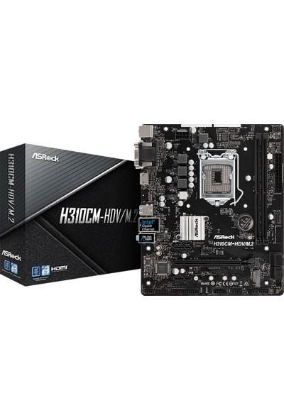 Asrock H310CM Intel H310 2666MHz DDR4 HDVM.2 1 x M.2 4 x SATA3 Mini-ITX Anakart (ASRH310CM HDVM2)