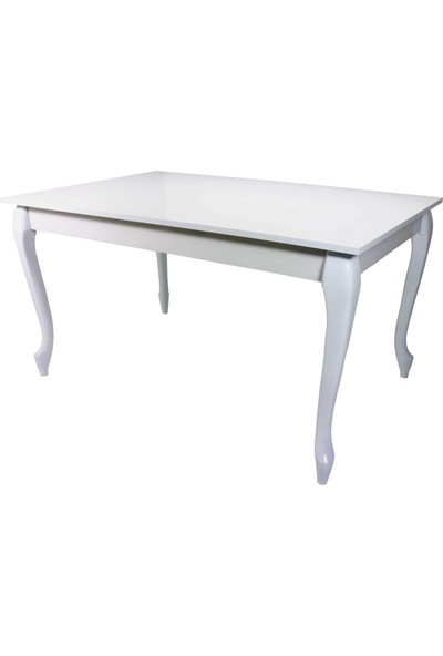 Sarıkaya Mobilya Blank Yemek Masası 140 x 80 cm Beyaz