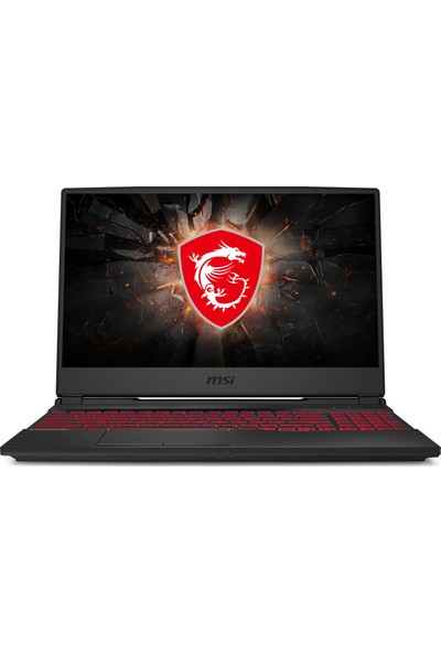 """MSI GL65 9SD-033XTR Intel Core i7 9750H 16GB 256GB SSD GTX1660Ti Freedos 15.6"""" FHD Taşınabilir Bilgisayar"""