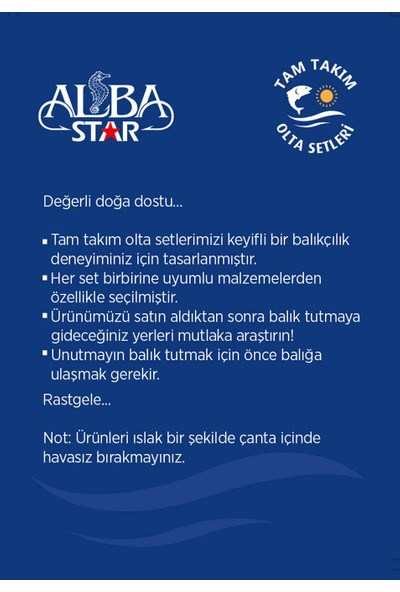 Albastar Tam Takım Hobi Kıyı Olta Seti TTS004