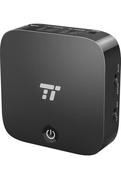 TaoTronics TT-BA09 Bluetooth 5.0 Verici/Alıcı Dijital Optik SLINK TV/Ev Stereo 3.5mm Kablosuz Ses Adaptörü aptX Düşük Gecikme, 53-30009-001