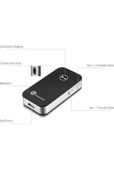 TaoTronics TT-BR05 Bluetooth Alıcı 3.5 mm Stereo Çıkış ve Eller Serbest Arama 8 Saat Şarj