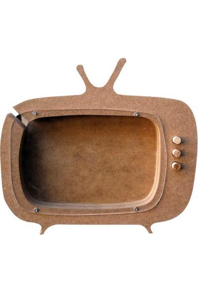 Tv Kumbara Ahşap Obje - Kod:çg5