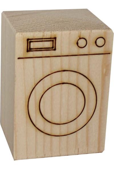 Ağaç Minyatür Çamaşır Makinası - KOD:ÇG23