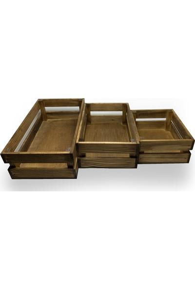 Hk Kıtchen - Sunumluk Ekmek Sepeti 3'lü Set