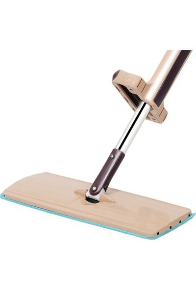 Spin Mop Mikrofiber Kendinden Sıkmalı Tablet Mop Paspas Kovasız + Yedek Bez
