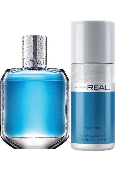 Avon Real Erkek Parfüm Edt 75 ml + Real Deodarant 150 ml 2 Li Set