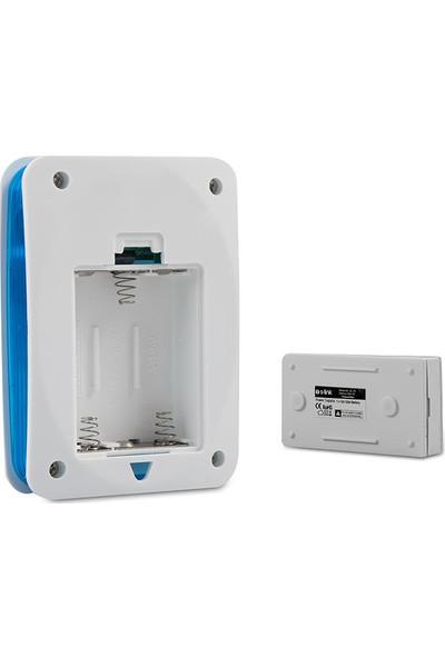 S-Link ZL-141 3xaa Beslemeli 32 Polifonik Melodi Beyaz Mavi Kablosuz Kapı Zili