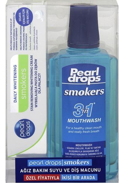 Pearl Drops Sigara Içenler Için Diş Macunu 75 ml ve ve Ağız Bakım Suyu 400 ml