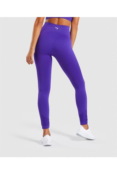 Gymwolves Dikişsiz Spor Tayt Purple Seamles Leggings Motive Serisi