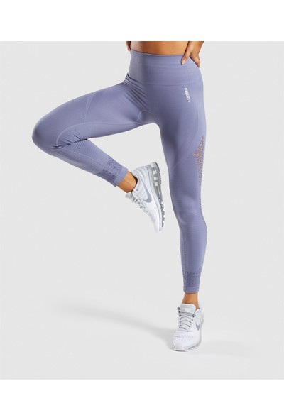 Gymwolves Dikişsiz Spor Tayt Light Grey Seamles Leggings Motive Serisi