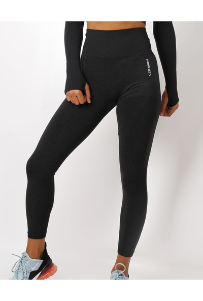 Gymwolves Dikişsiz Spor Tayt Black Seamles Leggings Activated Serisi