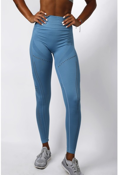 Gymwolves Dikişsiz Spor Tayt Turquoise Power Seamles Leggings Aktive Power Serisi