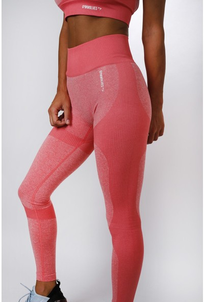 Gymwolves Dikişsiz Spor Tayt Orange Seamles Leggings Strong Serisi