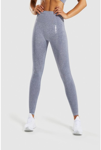 Gymwolves Dikişsiz Spor Tayt Grey Seamles Leggings Activated Serisi
