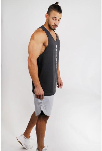 Gymwolves Spor Atleti Siyah Stringer Workout Tanktop Comfortable Serisi