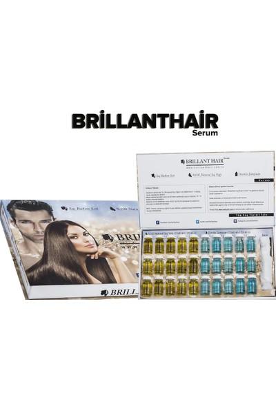 Brillant Hair Keratinli Doğal Saç Uzatma Bakım Serumu 1 Aylık Set