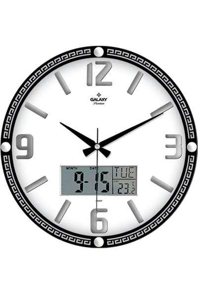 Galaxy Premium Rakamlı Duvar Saati Digital Ekranlı