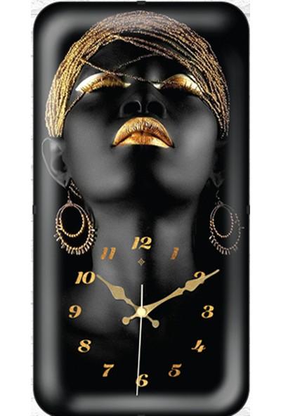 Galaxy Bombeli Camlı Afrikalı Kadın Saat