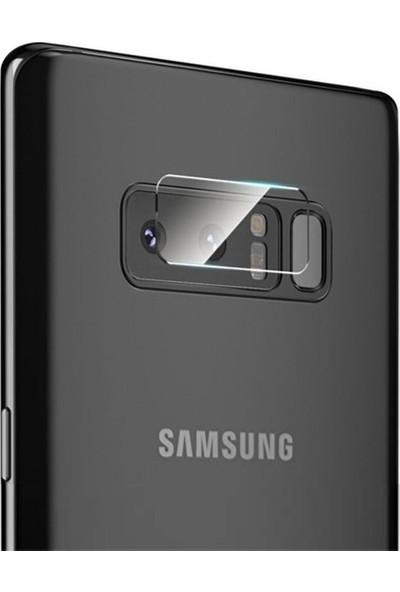 Ehr. Samsung Galaxy Note 8 Kamera Koruyucu Cam Darbe Önleyici Kamera Koruyucu Şeffaf