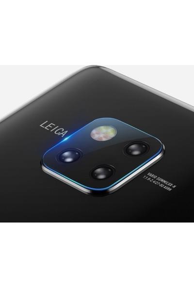 Ehr. Samsung Galaxy Mate 20 Pro Kamera Koruyucu Cam Darbe Önleyici Kamera Koruyucu Şeffaf