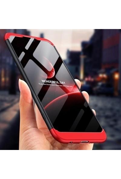 Ehr. Samsung Galaxy A10 Kılıf 360 Derece Korumalı 3in1 Zone Kılıf Siyah + Kırmızı