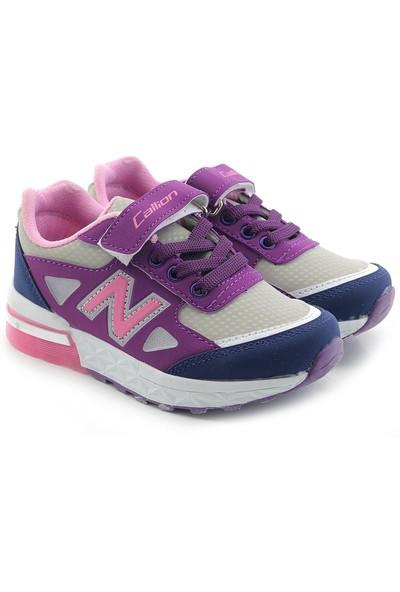 Kids World S5221 Kız Çocuk Işıklı Spor Ayakkabı