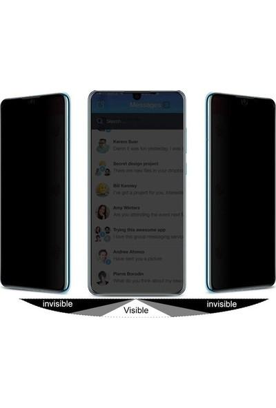 Ehr. Huawei Honor 10 Lite Ekran Koruyucu Cam Hayalet Cam Privacy Cam Siyah