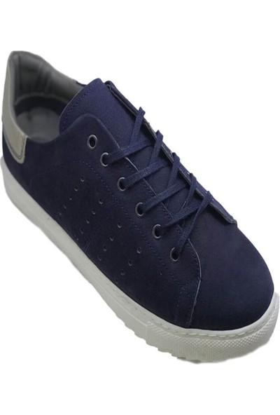 Derimall Erkek Bağcıklı Lacivert Hakiki Deri Yazlık Ayakkabı Dft-814