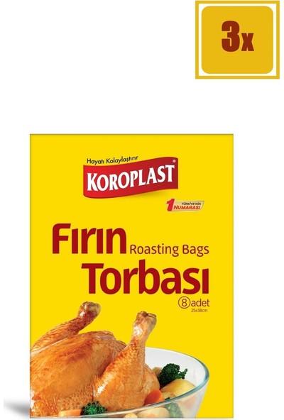 Koroplast Fırın Torbası 8 Adet 3'lü Set