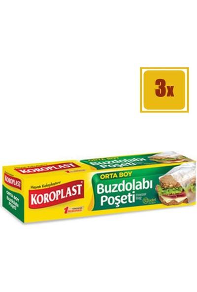 Koroplast Buzdolabı Poşeti Orta Boy 3'lü Set