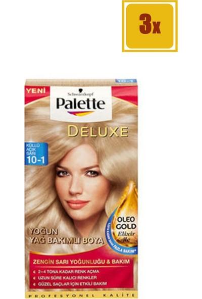 Palette Deluxe 10/1 Küllü Açık Sarı Saç Boyası 3'lü Set