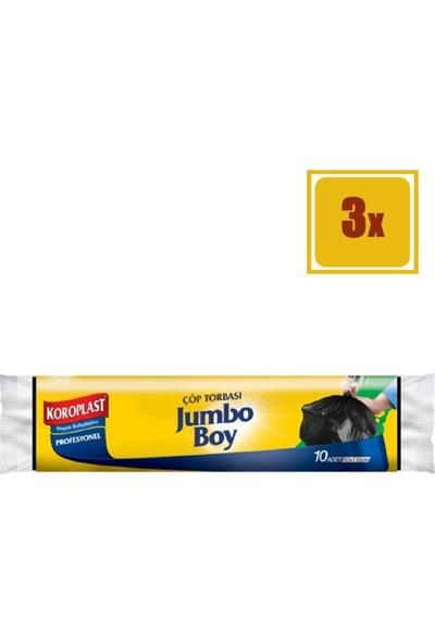 Koroplast 10 Adet Profesyonel Jumbo Boy Çöp Torbası 3'lü Set