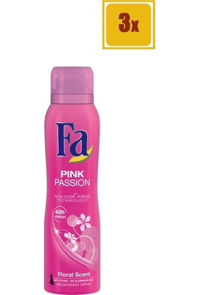 Fa 150 ml Pink Passion Kadın Deodorant 3'lü Set