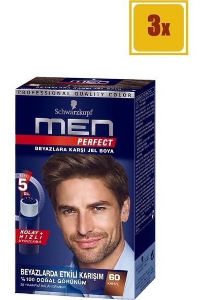 Schwarzkopf Men Perfect 60 Kahve Saç Boyası 3'lü Set