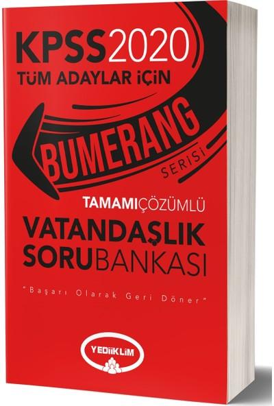 Yediiklim Yayınları 2020 Bumerang Tamamı Çözümlü Vatandaşlık Soru Bankası