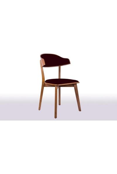 Linda Bkc Ceviz Ahşap Sandalye Anfora 489 Kumaş