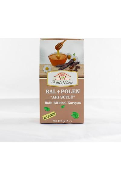 """Vital Home Bal+Polen """"arı Sütlü"""" Ballı Bitkisel Karışımlı Macun 420 gr %100 Doğal"""